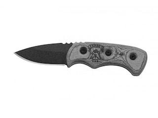 "TOPS Knives Ferret Fixed Blade Knife 1.88"" Drop Point 1095 High Carbon Alloy Blade Linen Micarta Handle Black"