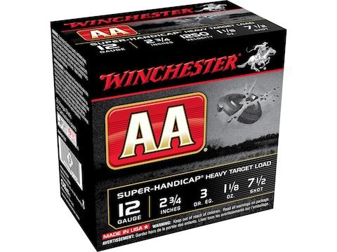 "Winchester AA Super-Handicap Heavy Target Ammunition 12 Gauge 2-3/4"" 1-1/8 oz"