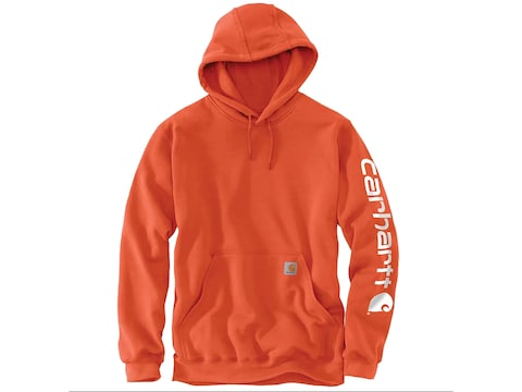 Carhartt Men's Midweight Signature Sleeve Logo Hooded Sweatshirt Cotton/Polyester