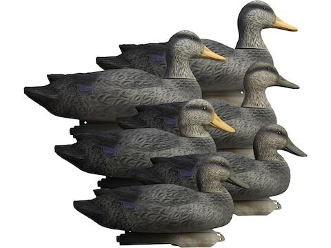 Higdon Battleship Foam Filled Black Duck Decoy Polymer Pack of 6