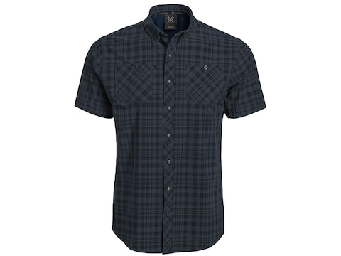 Vortex Optics Men's Plaid Snap Front Short Sleeve Shirt Polyester