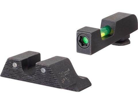 Trijicon DI Night Sight Set Glock 17, 19, 22, 23, 24, 26, 27, 33, 34, 35 Steel Matte 3-...