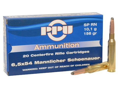 Prvi Partizan Ammunition 6.5x54mm Mannlicher-Schoenauer 156 Grain Round Nose Soft Point...