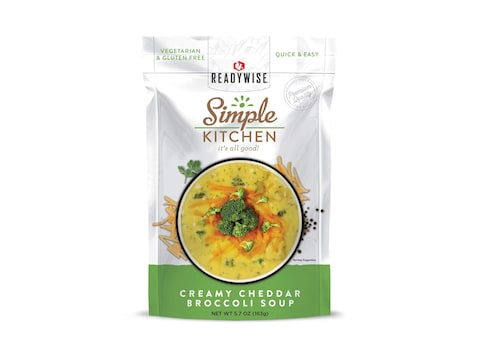 ReadyWise Simple Kitchen Creamy Cheddar Broccoli Soup Freeze Dried Food
