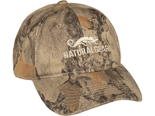 Natural Gear 6 Panel Logo Cap Natural Gear Natural Camo
