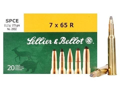 Sellier & Bellot Ammunition 7x65mm Rimmed 173 Grain Soft Point Cutting Edge Box of 20