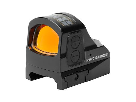 Holosun HS507C-V2 Reflex Sight 1x Selectable Red Reticle Picatinny-Style Mount Solar/Ba...