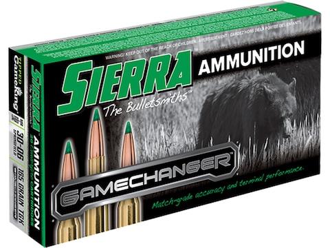 Sierra GameChanger Ammunition 30-06 Springfield 165 Grain Tipped GameKing Box of 20