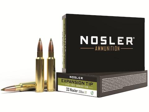 Nosler E-Tip Ammunition 33 Nosler 225 Grain E-Tip Lead-Free Box of 20