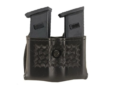"""Safariland 079 Double Magazine Pouch 2-1/4"""" Snap-On Colt Government 380, Mustang, S&W S..."""