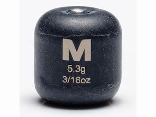 Mustad Carolina Weight 3/16oz Tungsten Black 3Pk