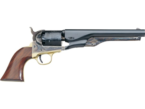 "Uberti 1861 Navy Black Powder Revolver 36 Caliber 7.5"" Barrel Civil Brass Frame Blue"