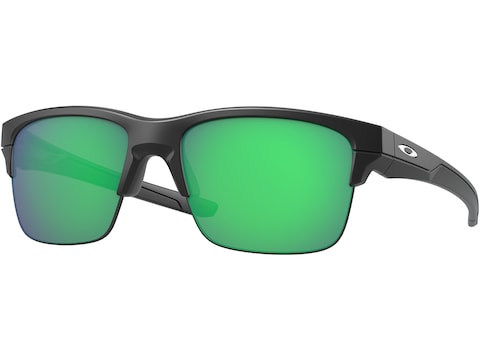 Oakley Thinlink Sunglasses Matte Black Frame/Jade Iridium Lens