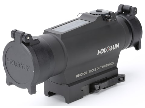 Holosun HS502C Red Dot Sight 1x 30mm 65 MOA Circle with 2 MOA Dot Weaver-Style Mount So...