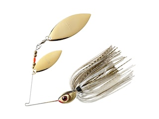 BOOYAH Blade Double Willow Spinnerbait 3/8oz Gold Shiner Gold