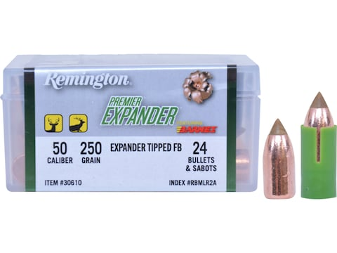 Remington Premier Expander Muzzleloading Bullets 50 Caliber 250 Grain Pack of 24