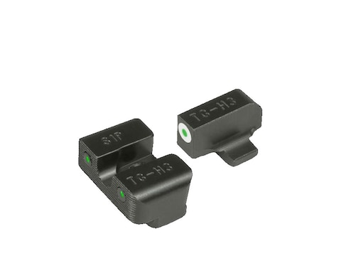 TRUGLO Tritium Pro Sight Set Sig Sauer #6/#8 Tritium Green with White Front Outline