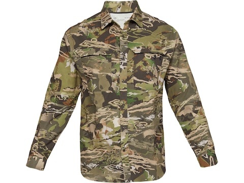 Under Armour Men's UA ArmourVent Camo No Fly Zone Button-Up Long Sleeve Shirt Polyester