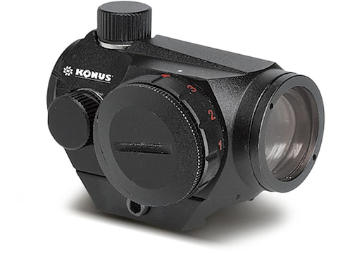 Konus SightPro Atomic Mini Red Dot Sight 1x 4 MOA Dot with Dual Mounting System Matte