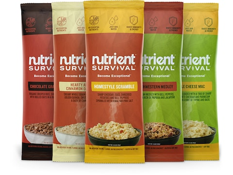 Nutrient Survival Full Variety Pack Freeze Dried Food 5 Serving