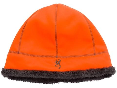 Browning High Pile Fleece Beanie Polyester Blaze Orange/Charcoal
