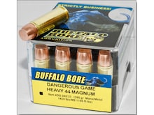 Buffalo Bore Ammo 44 Remington Mag +P+ 340 Grain Lead Flat