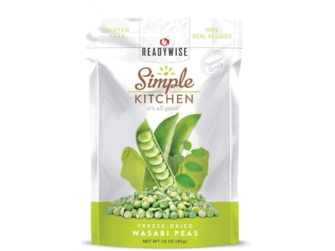 ReadyWise Simple Kitchen Wasabi Peas Freeze Dried Food