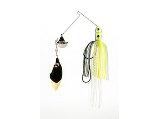 Strike King Premier Plus Tandem Spinnerbait 3/8oz Chartreuse Sexy Shad Silver/Gold