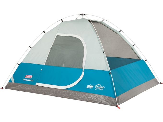 """Coleman Long Peak Fast Pitch 4 Man Dome Tent 84""""x84""""x59"""" Polyester Blue and White"""