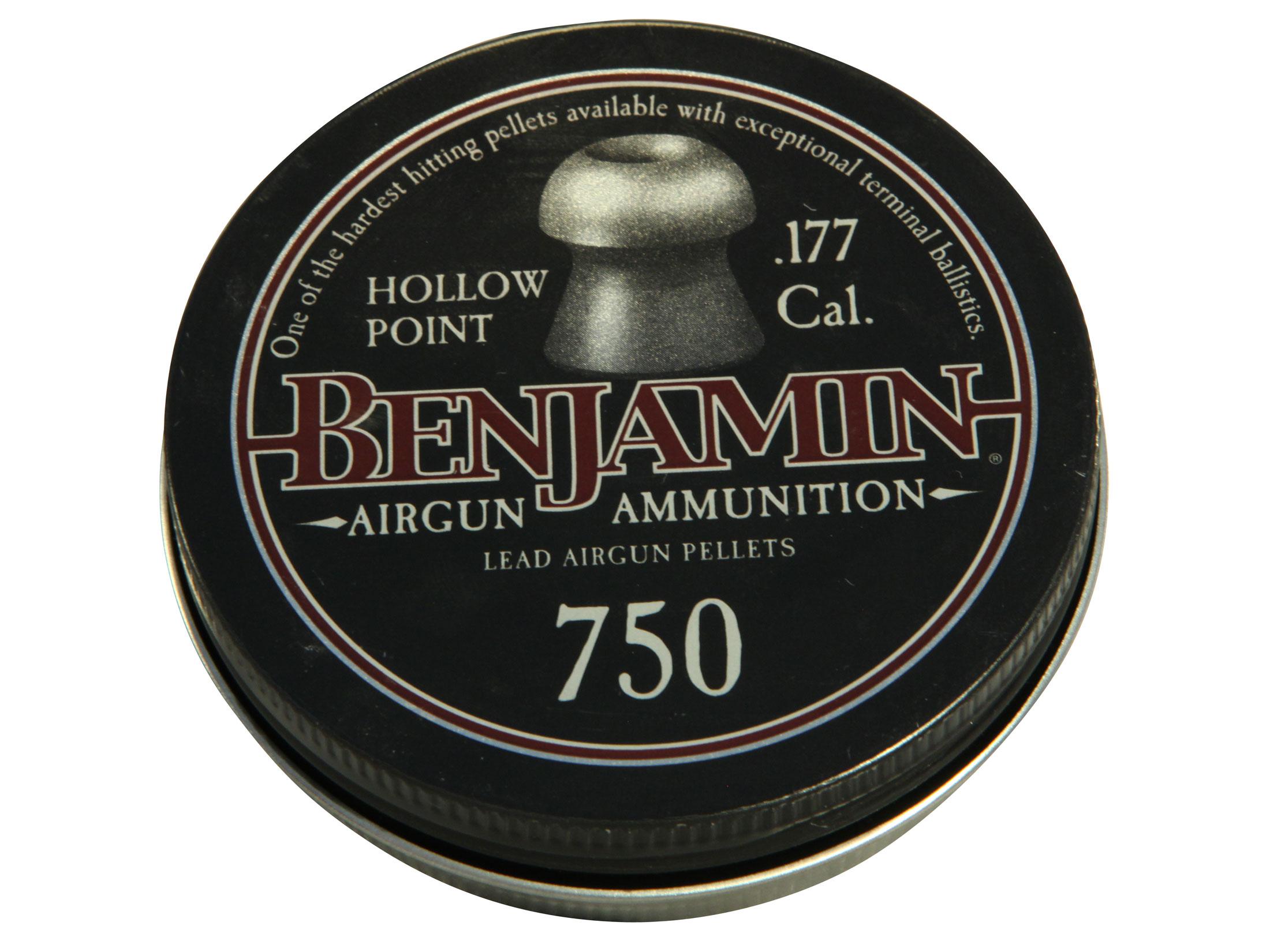 Benjamin 750-Count 0.177-Caliber Hollow Point Pellets