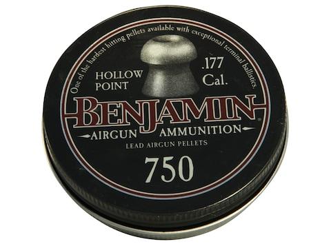 Benjamin Air Gun Pellets 177 Caliber 7.9 Grain Hollow Point Tin of 750