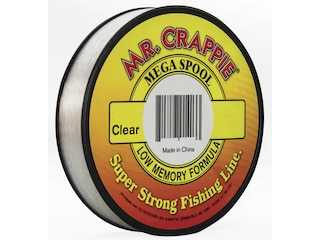 Mr. Crappie Mega Spool Monofilament Fishing Line 8lb 1200yd Clear