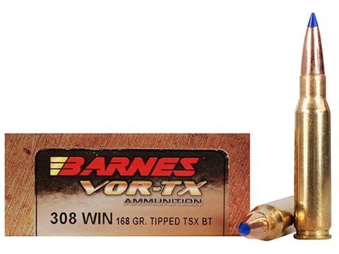 Barnes VOR-TX Ammunition 308 Winchester 168 Grain TTSX Polymer Tipped Spitzer Boat Tail...