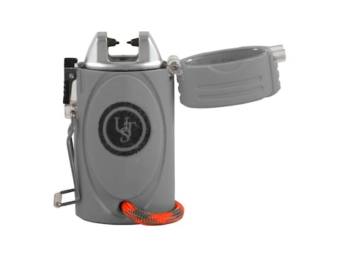 UST TekFire LED Fuel-Free WindProof Electronic Lighter Gray