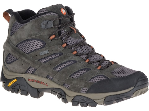 """Merrell Moab 2 Mid 5"""" Hiking Boots Leather/Synthetic Men's"""