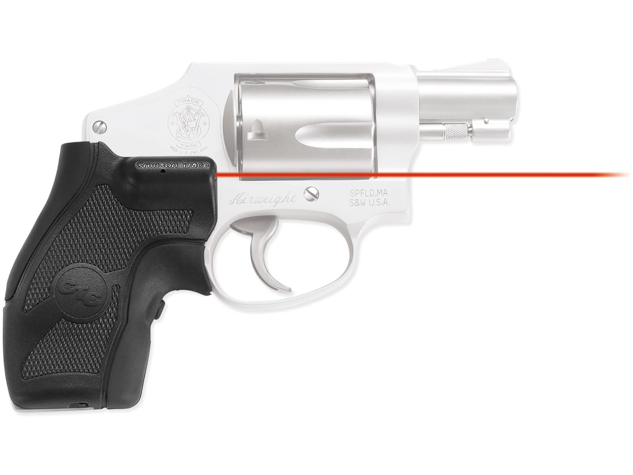 Crimson Trace Lasergrips S&W J-Frame Round Butt Polymer Overmolded