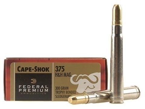Federal Premium Cape-Shok Ammunition 375 H&H Magnum 300 Grain Trophy Bonded Sledgehammer