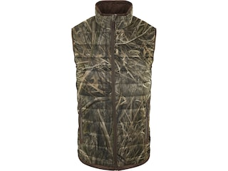 Drake Men's Camo Double Down Endurance Layering Vest Mossy Oak Shadow Grass Habitat Medium