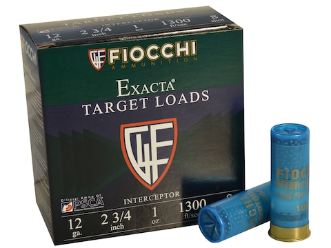 "Fiocchi Exacta Interceptor Spreader Ammunition 12 Gauge 2-3/4"" 1 oz #8 Shot"
