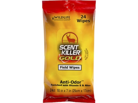 Wildlife Research Center Scent Killer Gold Scent Elimination Hand/Field Wipes Pack of 24