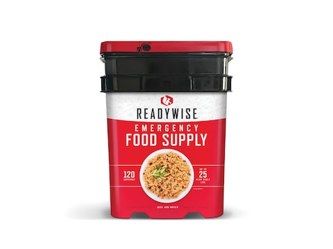 ReadyWise Stocking Up 120 Serving Entree Only Freeze Dried Food Bucket