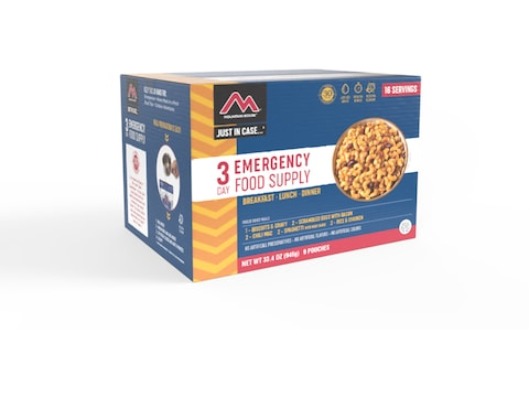 Mountain House Just in Case 3-Day Emergency Kit Freeze Dried Food 20 Serving