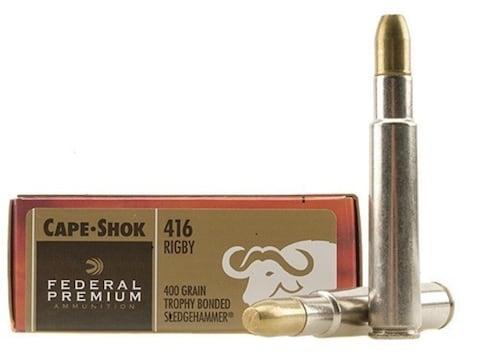 Federal Premium Safari Ammunition 416 Rigby 400 Grain Trophy Bonded Sledgehammer Box of 20