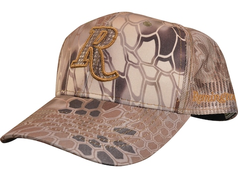 Remington Mesh Back Mid Crown Camo Logo Cap Kryptek Highlander