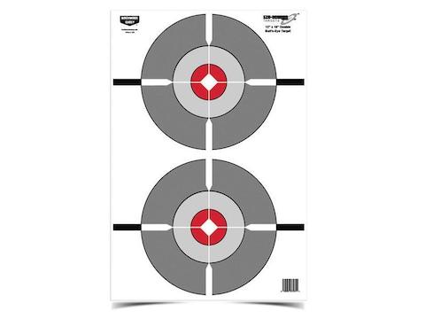 """Birchwood Casey Eze-Scorer Double Bull's-Eye 12"""" x 18"""" Target Package of 10"""