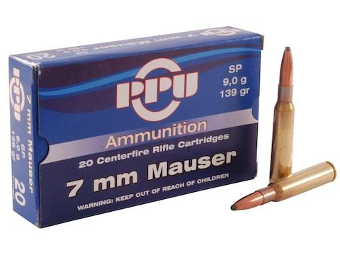Prvi Partizan Ammunition 7x57mm Mauser (7mm Mauser) 139 Grain Soft Point Box of 20