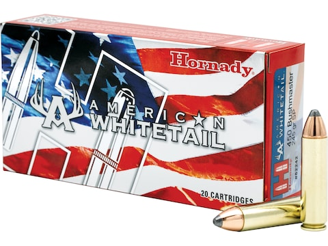 Hornady American Whitetail Ammunition 450 Bushmaster 245 Grain Interlock Spire Point Bo...