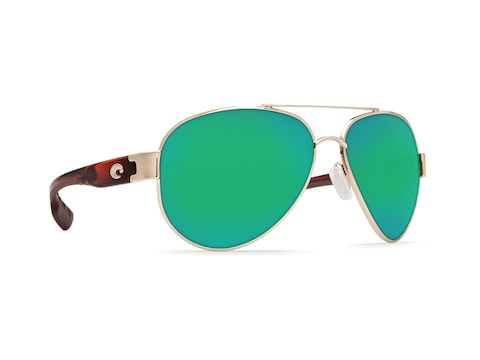 Costa Del Mar South Point Polaraized Sunglasses Gold Frame/Green Mirror Lens