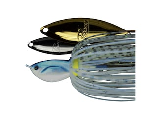 Picasso Double Willow Spinnerbait 1/4oz Blue Glimmer Shad Nickel/Gold