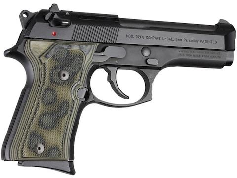 Hogue Extreme Series Grip Beretta 92FS Compact Checkered G10